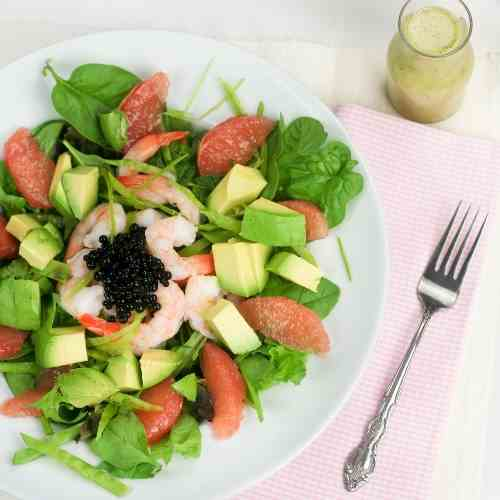 Shrimp, Avocado and Pink Grapefruit Salad