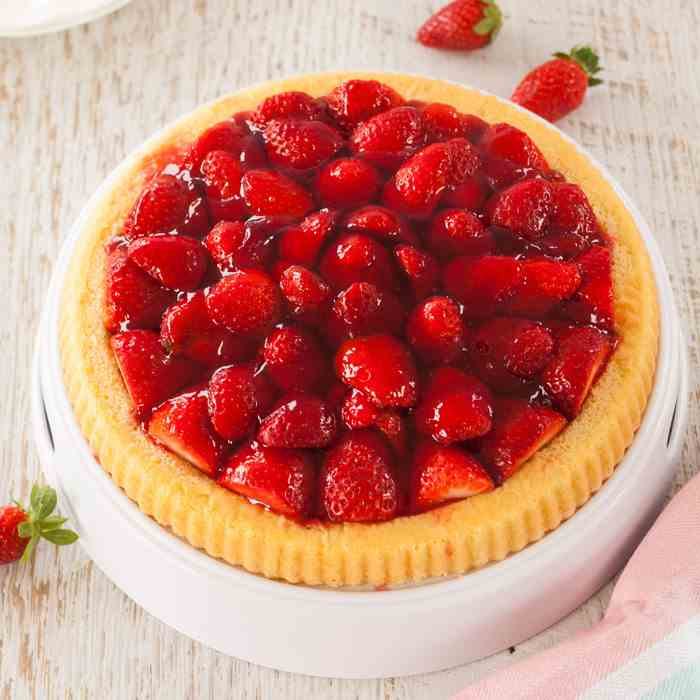 Simple Strawberry Flan