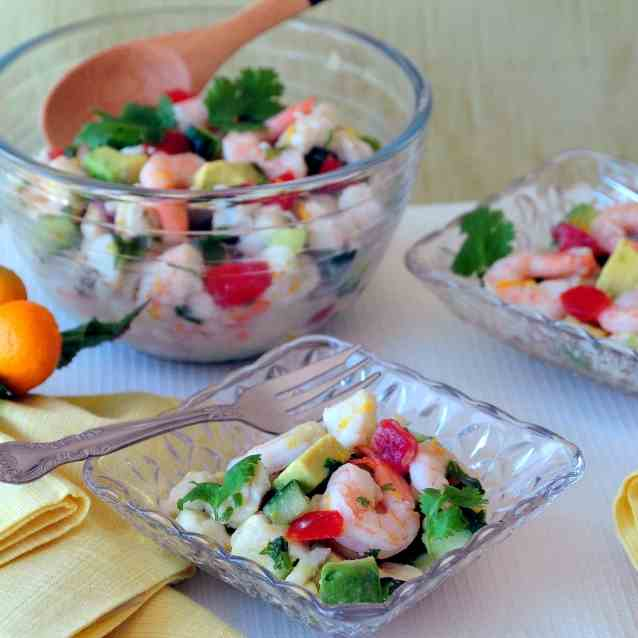 Yuzu Shrimp and Halibut Ceviche