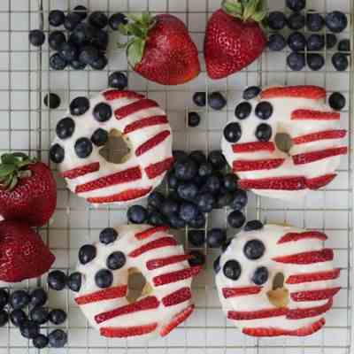 American Flag Donuts for July 4th