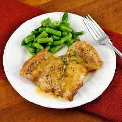 Chicken Thighs with Sweet Mustard