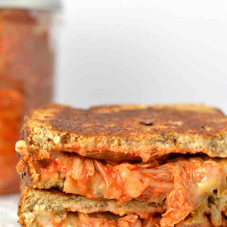 Kimchi Grilled Cheese Sandwich