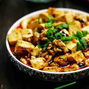 spicy and delicious mapo tofu