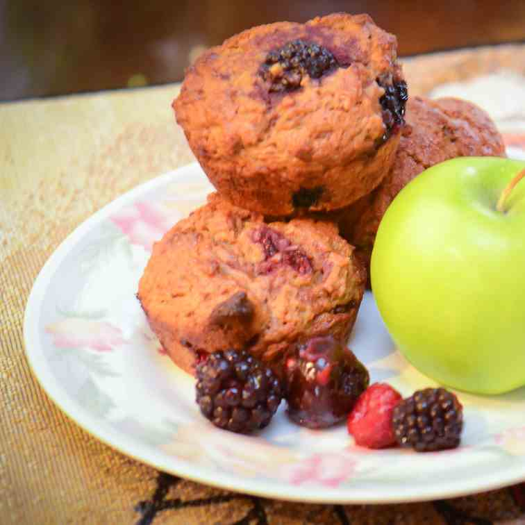 Cherry Berry Surprise Muffins