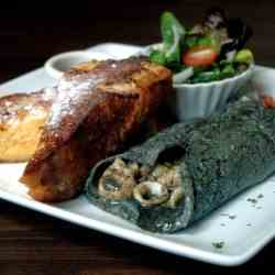 Squid Ink Omelet
