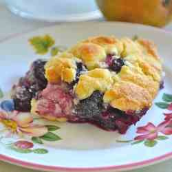 Blueberry Pear Cobbler