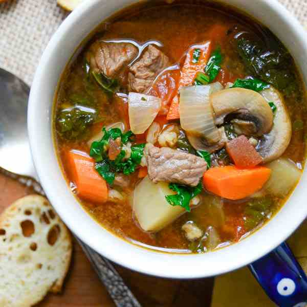 healthy beef vegetable soup
