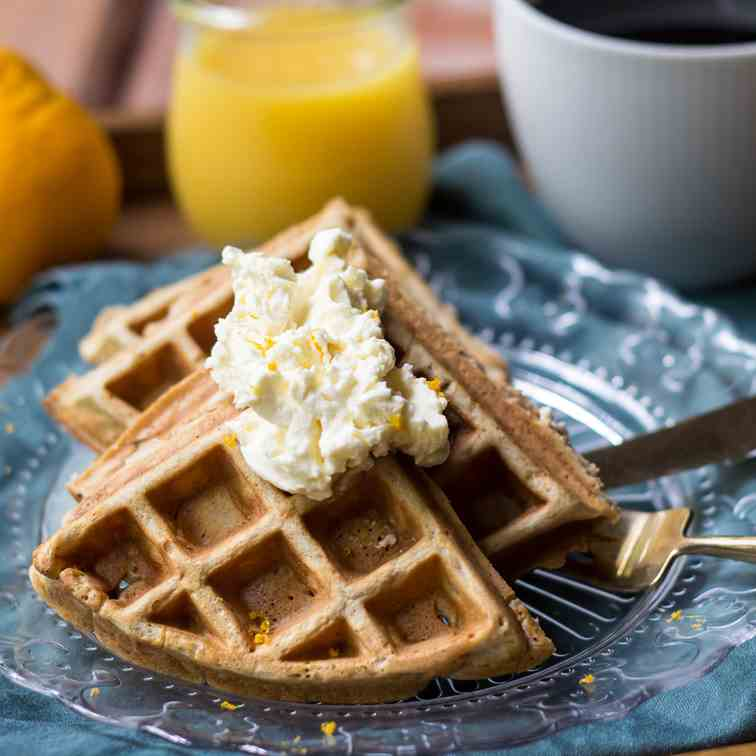 Orange Spice Waffles