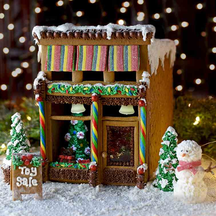 Victorian Storefront Gingerbread House