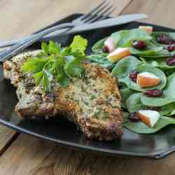 Blue Cheese Encrusted Pork Chops