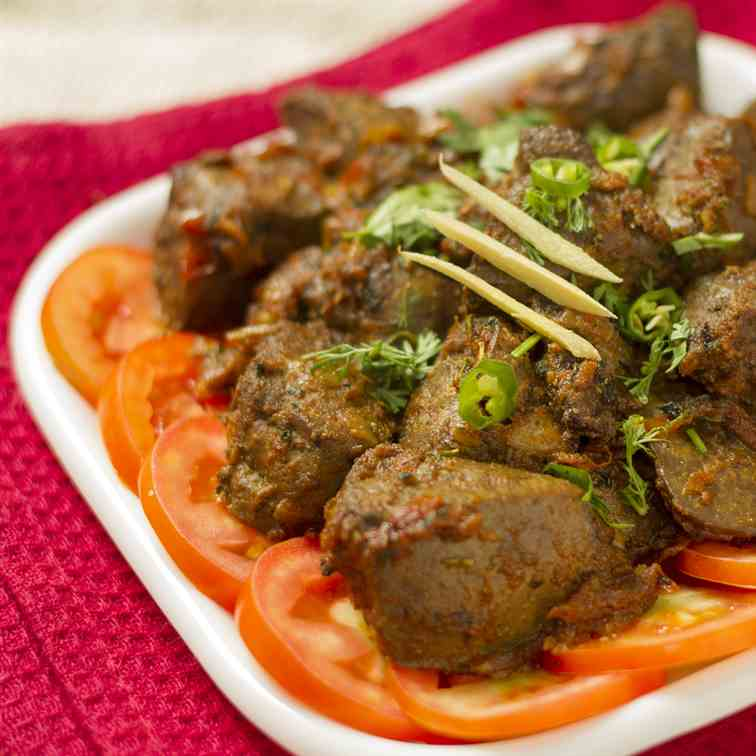 Kaleji Masala – Goat liver fried in spices