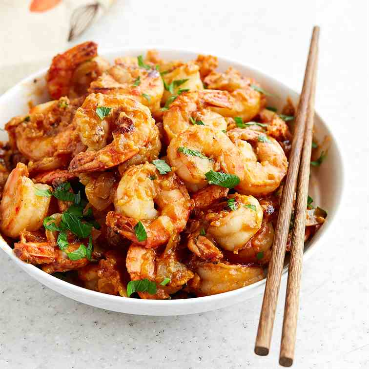 Hot and Spicy Hunan Shrimp