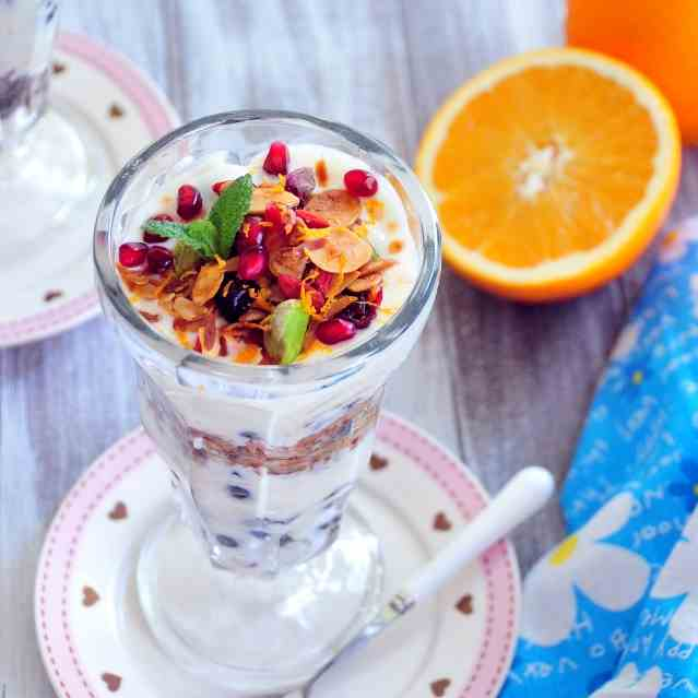 Citrus Yogurt Parfait with Granola