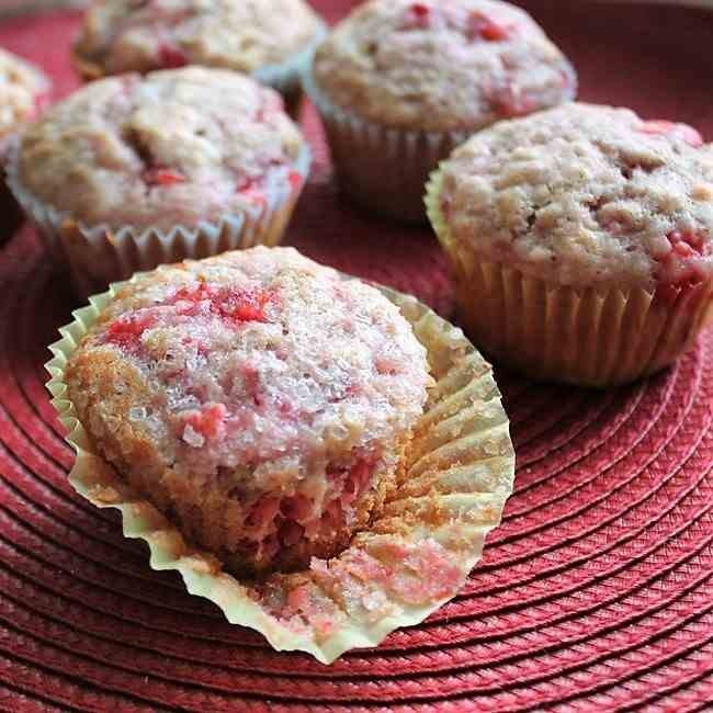 Strawberry-Smash Muffins