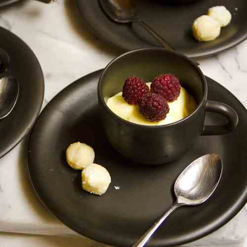 Lemon Mousse with Lemon Truffles