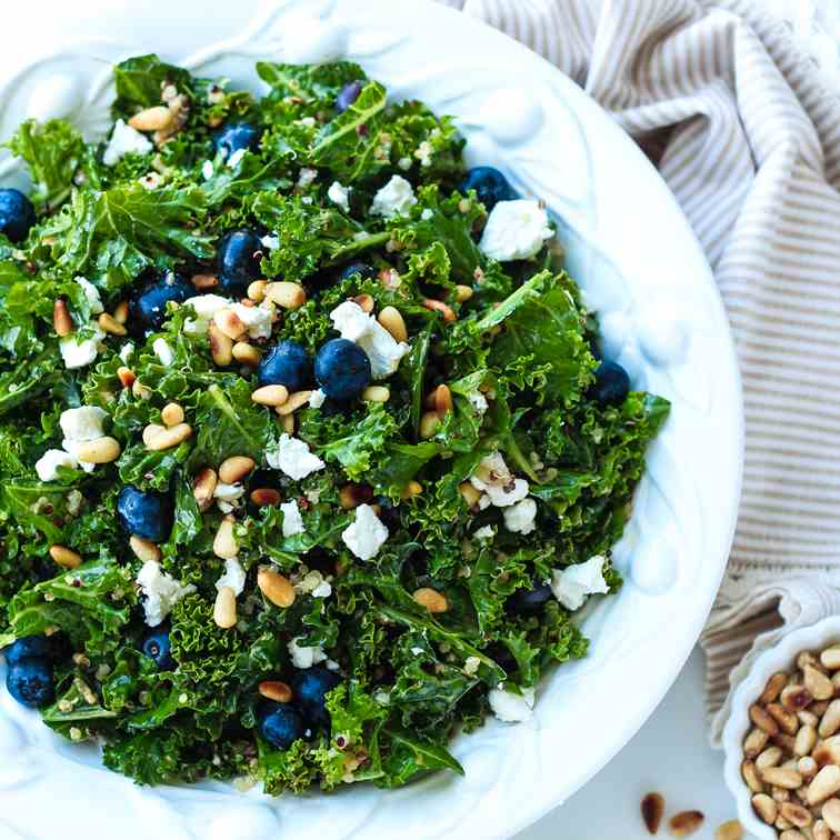 Kale and Blueberry Quinoa Salad