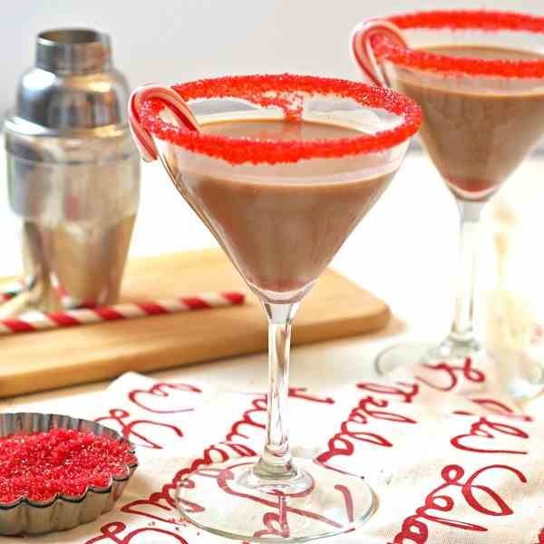 "Peppermint ""Hot Chocolate"" Martini"