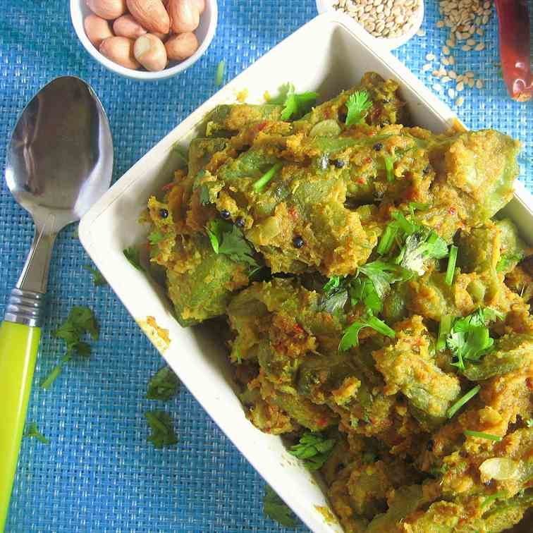 Stuffed Ridge Gourd Masala curry