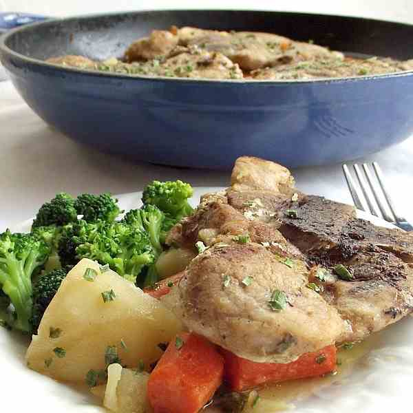 One-Pot Chops and Vegetables
