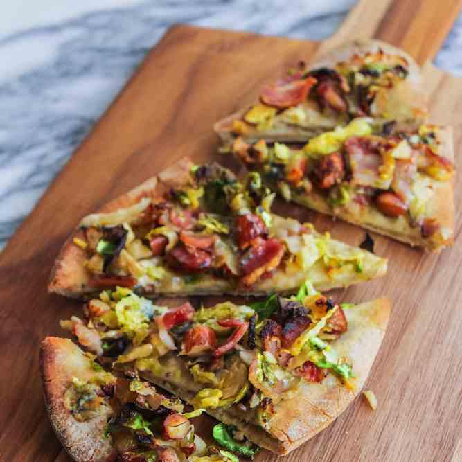 Bacon Brussels - Blue Cheese Pizza