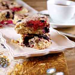 Scottish Oat Scones with Berries