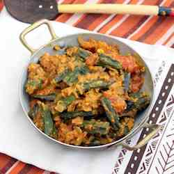Okra in Coconut and Cashew Gravy