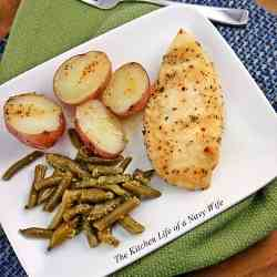 Baked Chicken, Green Beans and Potatoes