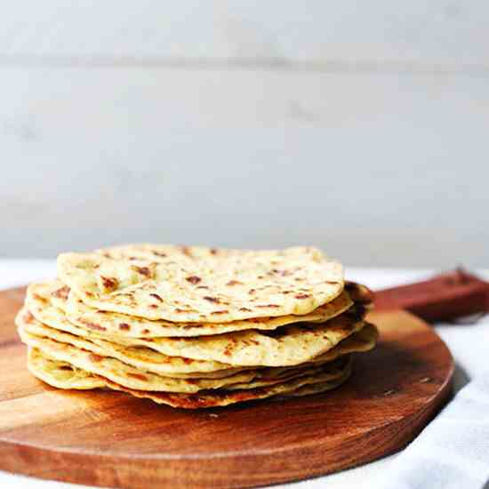 Garlic chickpea flatbread