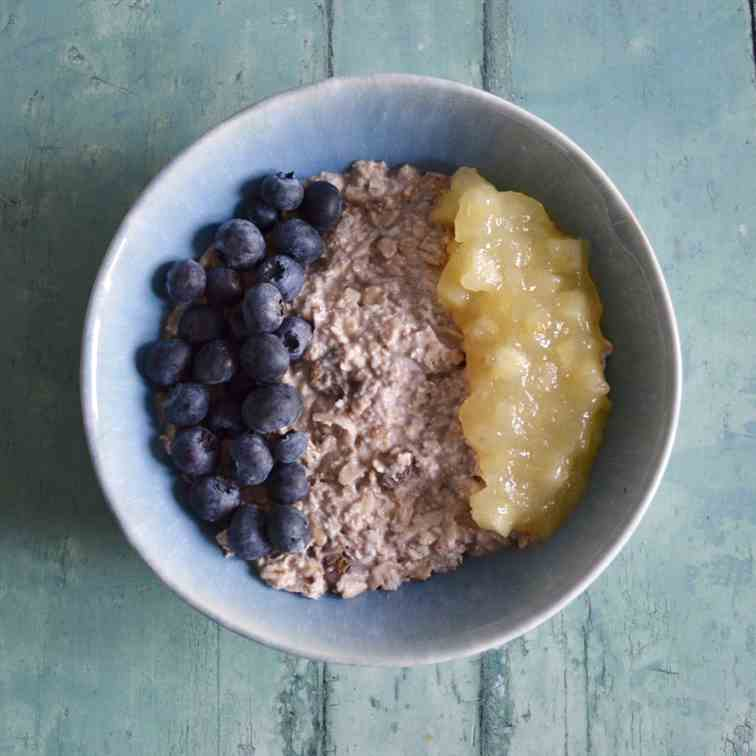 Apple and Blueberry Bircher