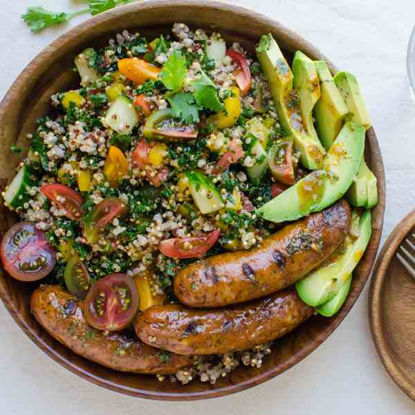 Spicy Sausage Avocado Salad