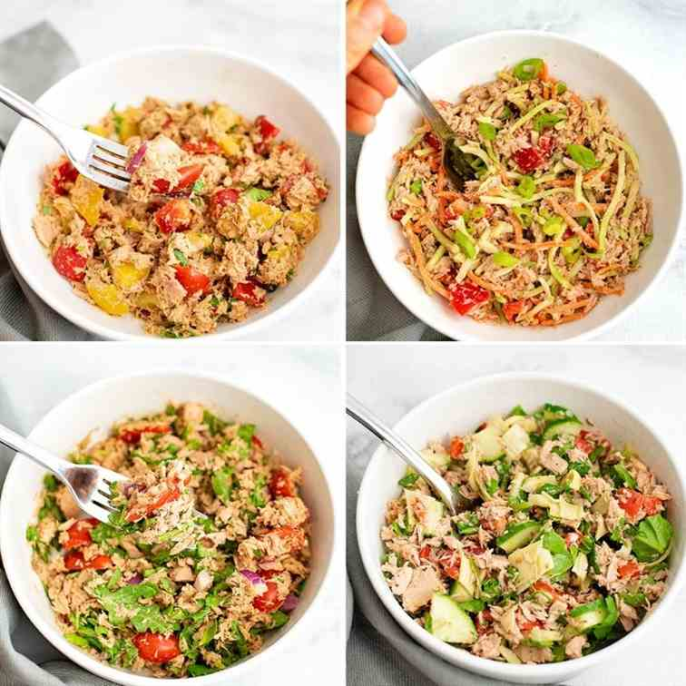 Healthy Tuna Salad Recipe 4 Ways