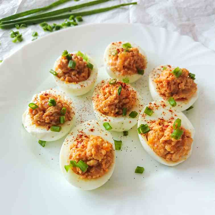 Chicken deviled eggs