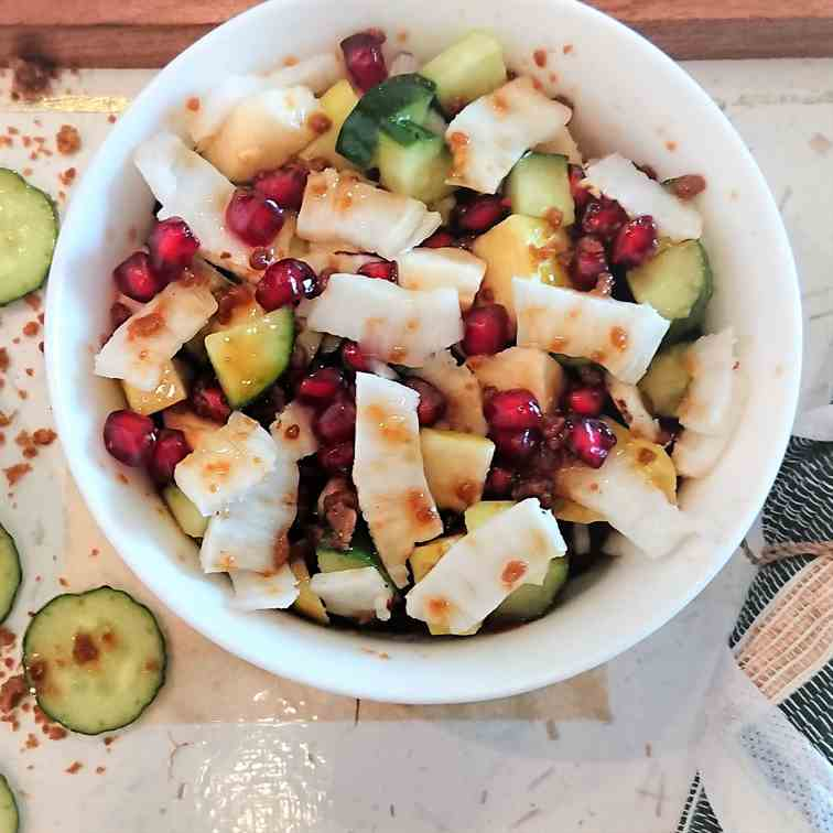 guava salad with coconut and palm sugar
