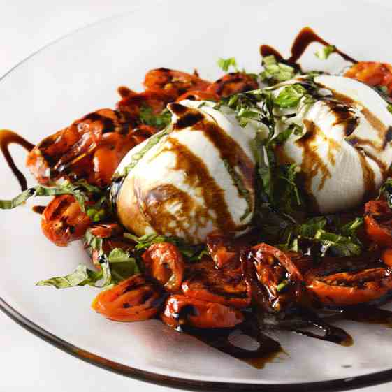 Burrata With Roasted Tomato Salad