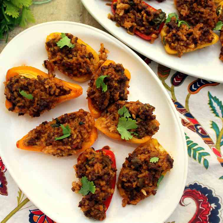Mexican Style Mini Stuffed Peppers