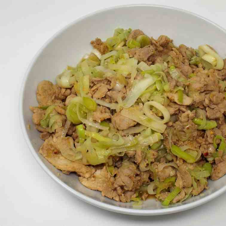 Gingered Pork and Leeks