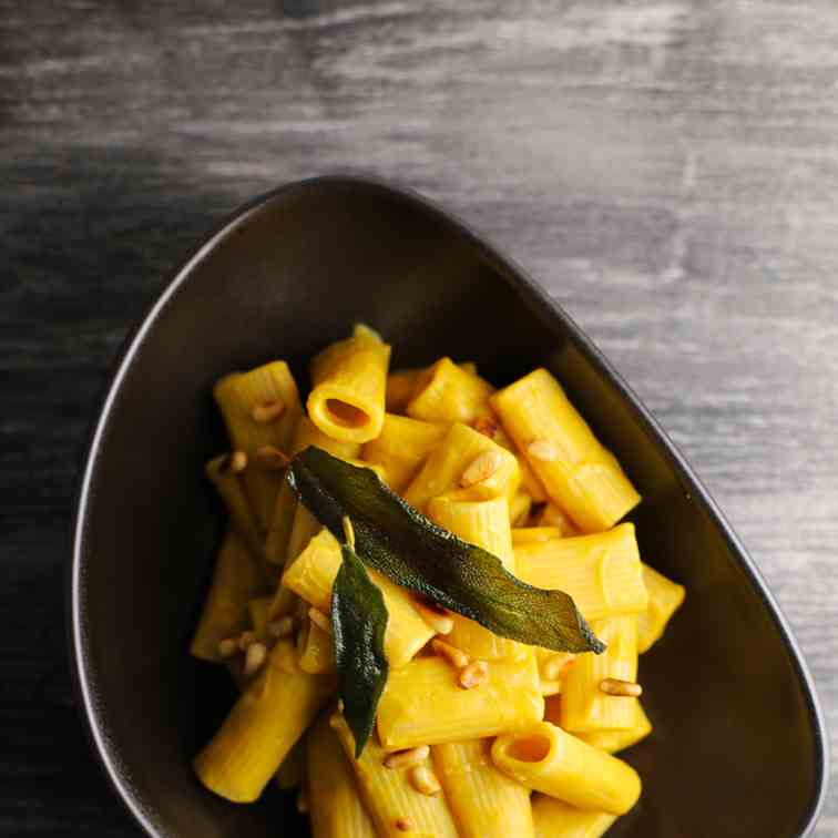 Rigatoni with Vegan Butternut Sage Cream