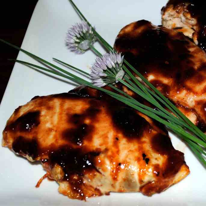 Grilled Chicken with Boysenberry BBQ Sauce