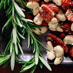 Spicy Rosemary Roasted Nuts