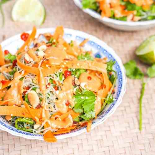 Vegan Asian Noodles with Carrots