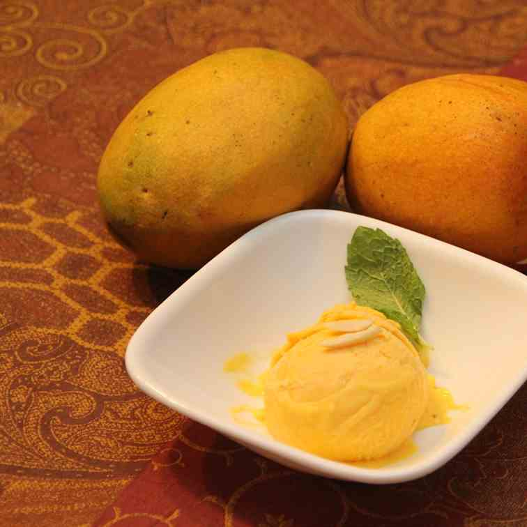 Delicious Mango Saffron Ice cream