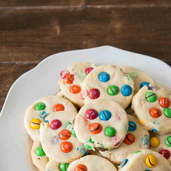 shortbread m-m cookies