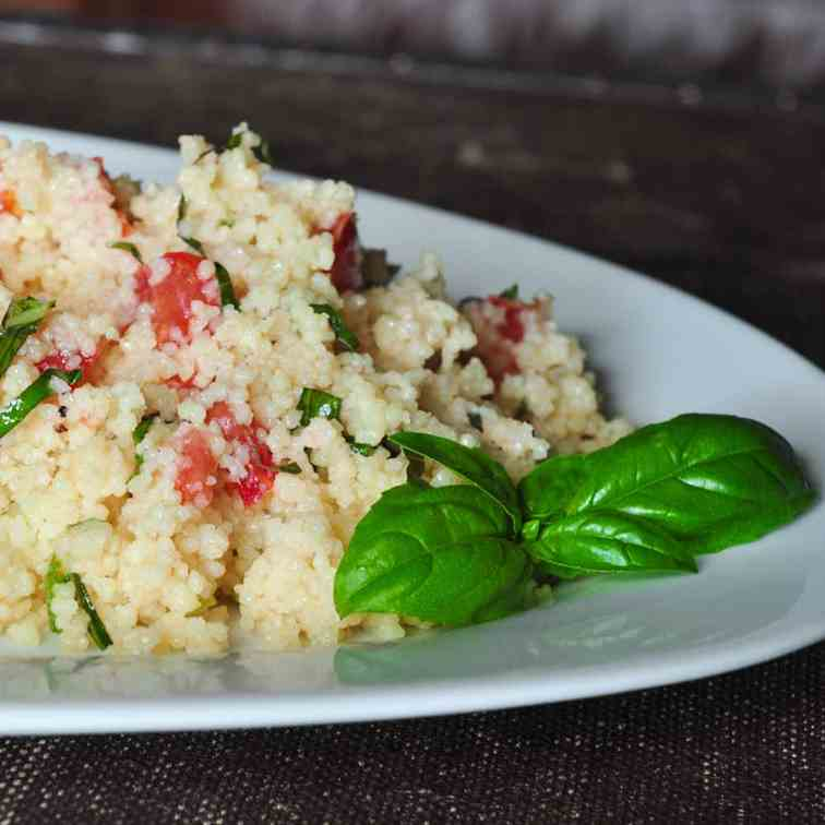 Tomato and Basil Couscous