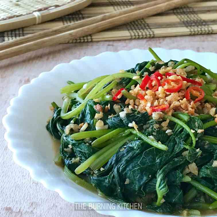 Sweet Potato Leaves in Fermented Beancurd