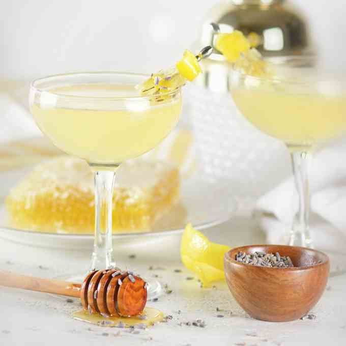 Lavender Bee's Knees Cocktail