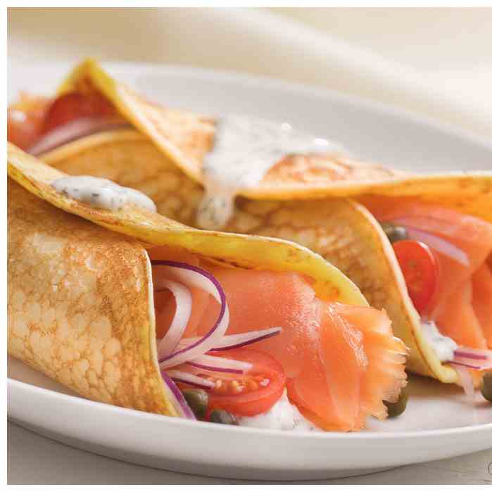Ricotta Crepes with Smoked Salmon