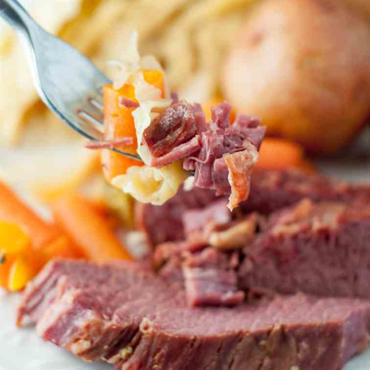 Slow Cooker Brown Sugar Corned Beef