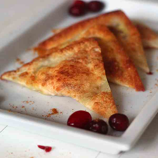 Curry Cranberry Cream Cheese Wontons