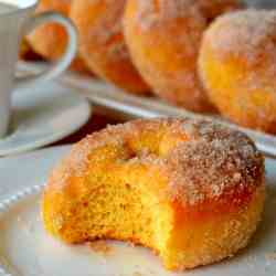 Cinnamon Sugar Sweet Potato Doughnuts