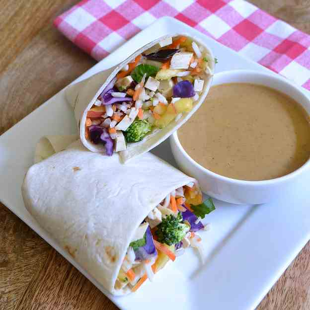 Veggie Wrap with Peanut Sauce